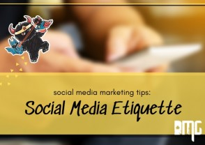 Social media marketing tips: Social media ettiquette